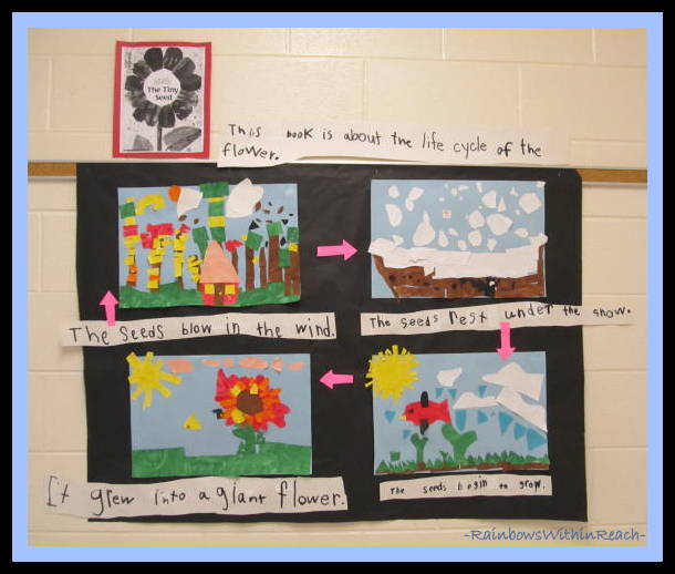 """photo of: Collaborative Mural of Eric Carle's """"Tiny Seed"""" (Eric Carle RoundUP at RainbowsWithinReach)"""