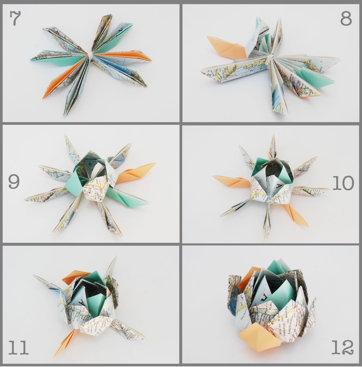 how to make flower origami step by step