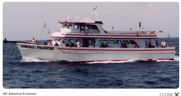 The 90 foot Admiral Frances cod fishing boat
