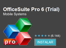 Noticia: Office Suite  Pro 6 a 0.76€
