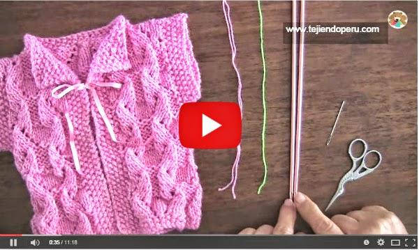 Cómo tejer chaleco bebé paso a paso