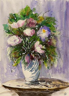 Bluoltremare vasi di fiori vases of flowers for Vaso di fiori disegno