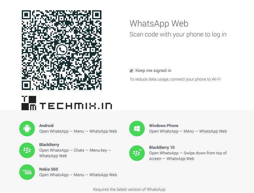 WhatsApp on Desktop Browser