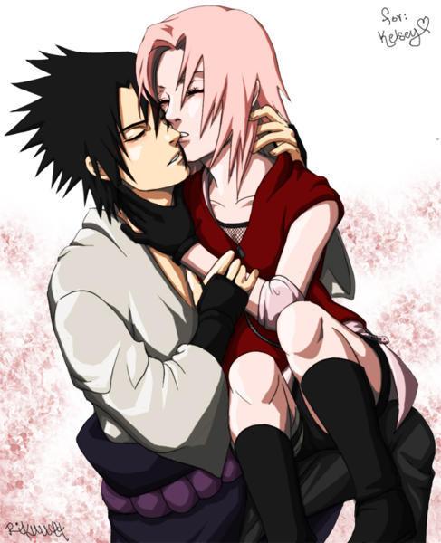 Sasuke And Sakura  naruto black wallpaper