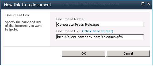 sharepoint shortcut in document library