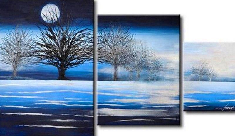 Pinturas cuadros lienzos cuadros tripticos - Triptico cuadros modernos ...
