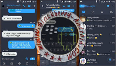Dual BBM Mod Tema Iphone Dark IOS7 NEW V2.9.0.49 Apk