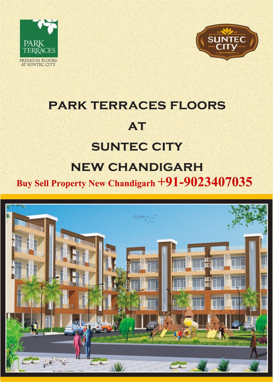 Park Terraces Floors at suntec city Mullanpur new chandigarh, Modern Living Welare Society