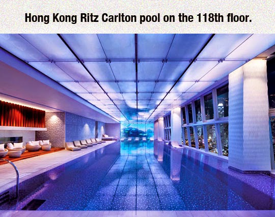 Hong Kong coolest pool on the 118th floor