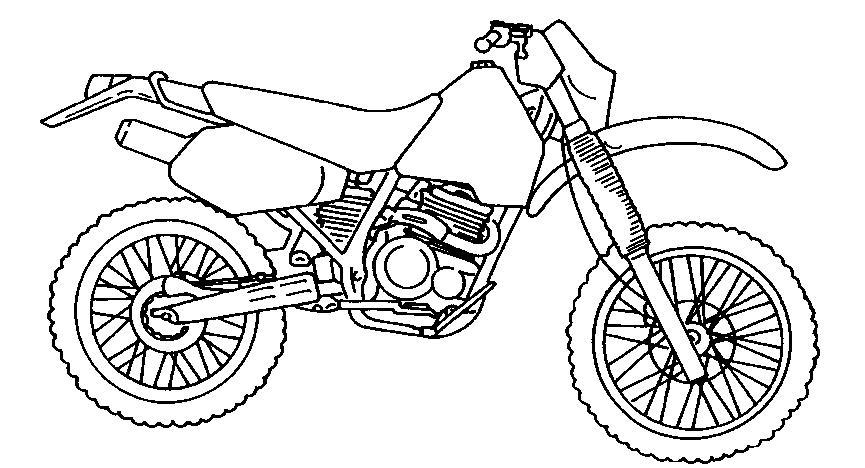 Dibujos de motocross para pintar - Imagui