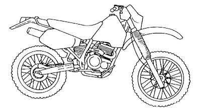 Desenho de motocicleta para colorir. Diversos desenhos para pintar