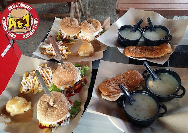Couple Set di A&J Burger Grill Pada Harga RM22.90