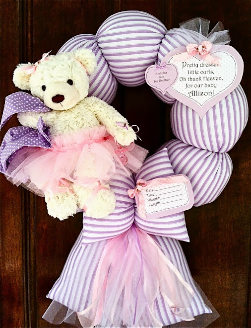 99. custom purple and pink ballerina baby wreath