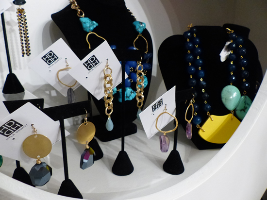 Earrings, earrings, and more earrings at the Bishop Boutique One Year Anniversary Celebration