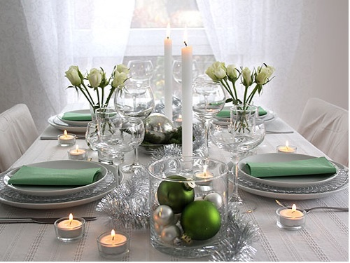 Ideas to decorating Christmas table dinner, how to decorate christmas table dinner