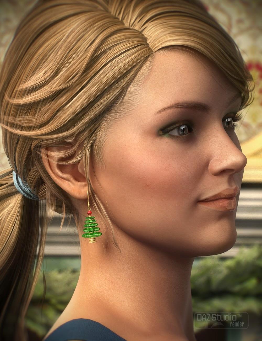 Boucles d'oreilles de Noël pour Genèse 2 Femme