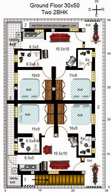 3 bedroom floor plan in 30x50 site joy studio design for 30x50 floor plans