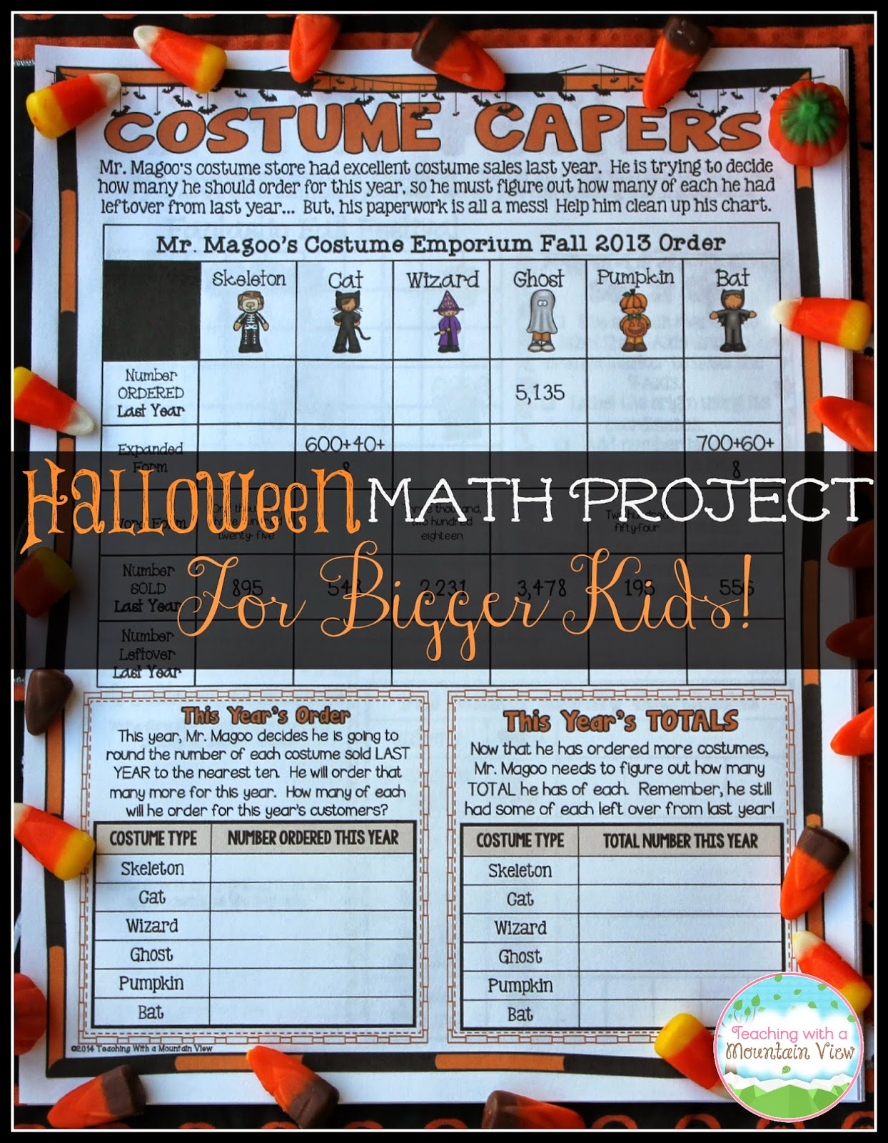 Teaching With a Mountain View: Educational Halloween Activities for ...