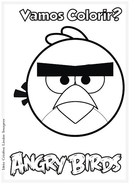 Desenho Angry Birds Red para colorir
