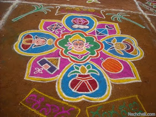 creative rangoli of sankranthi