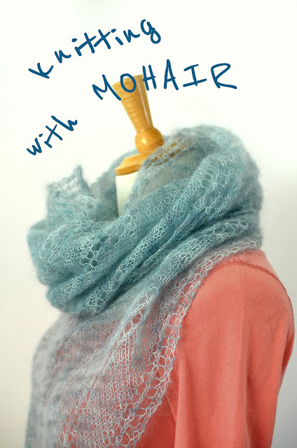 great tips for knitting with mohair lace