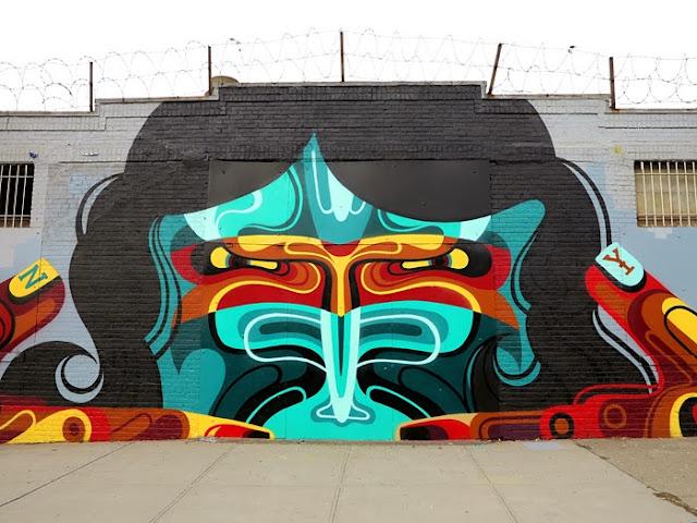 New Street Art Mural By Australian Artist REKA in Bushwick, New York City. 1