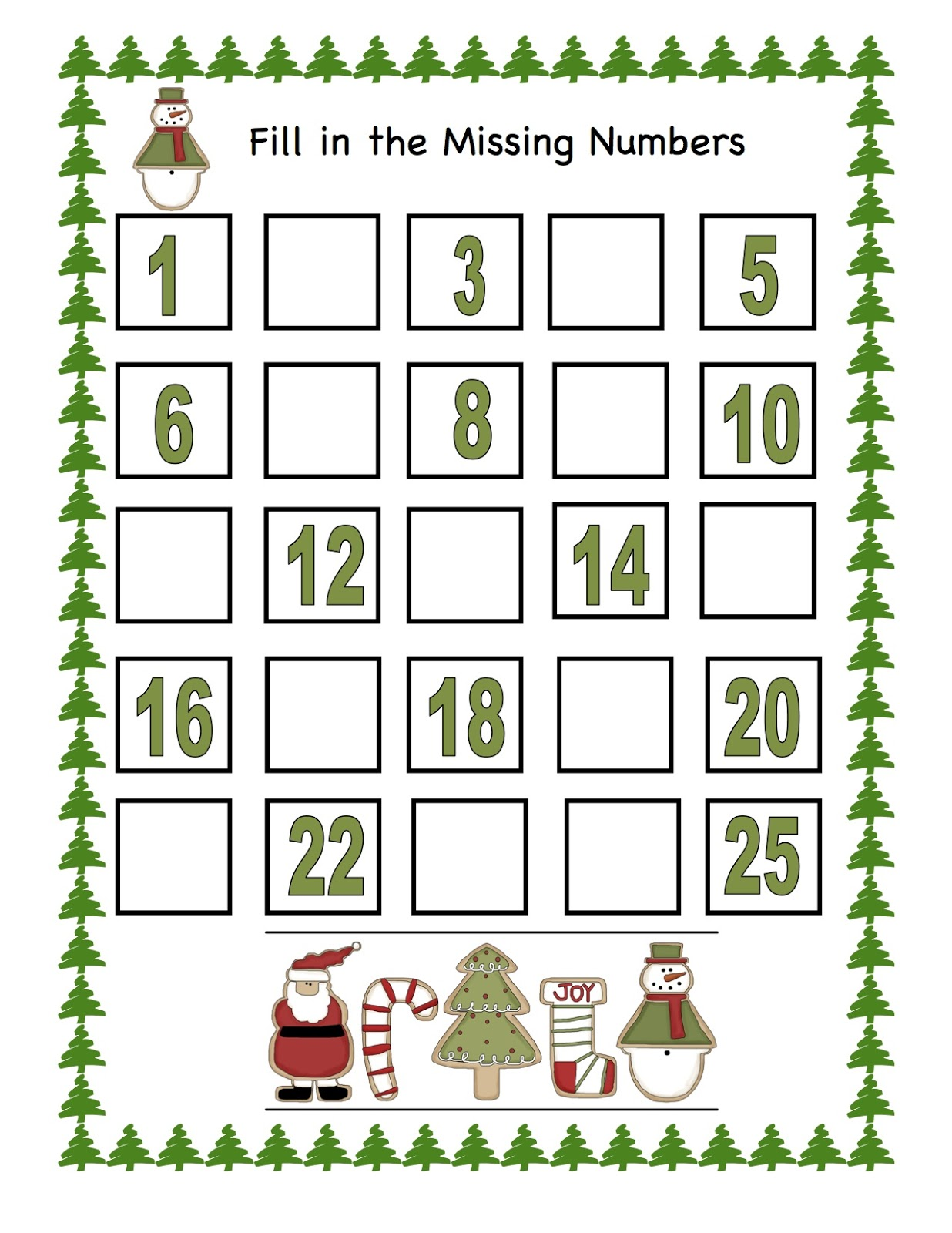 Number 25 pictures printable number 25 - Filename Cookie X Mas Num 1 25 Boxes Jpg