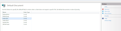 IIS - Default Document