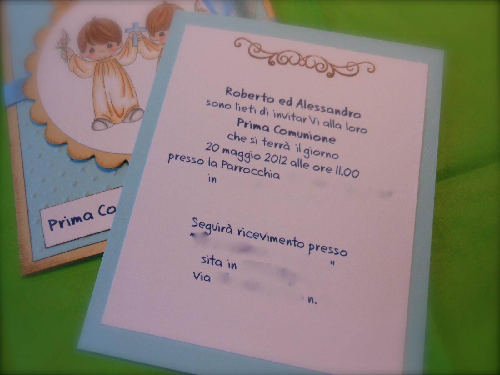 Bien-aimé Il blog di mamma Francy: Inviti Prima Comunione PQ27
