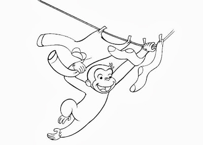 Curious George Monkey Coloring Pages