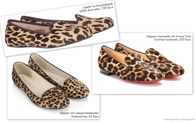 Original vs. Budget #6: Slipper mit Animal Print