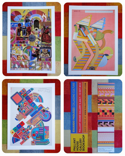 Paolozzi postcards from Pallant House Gallery
