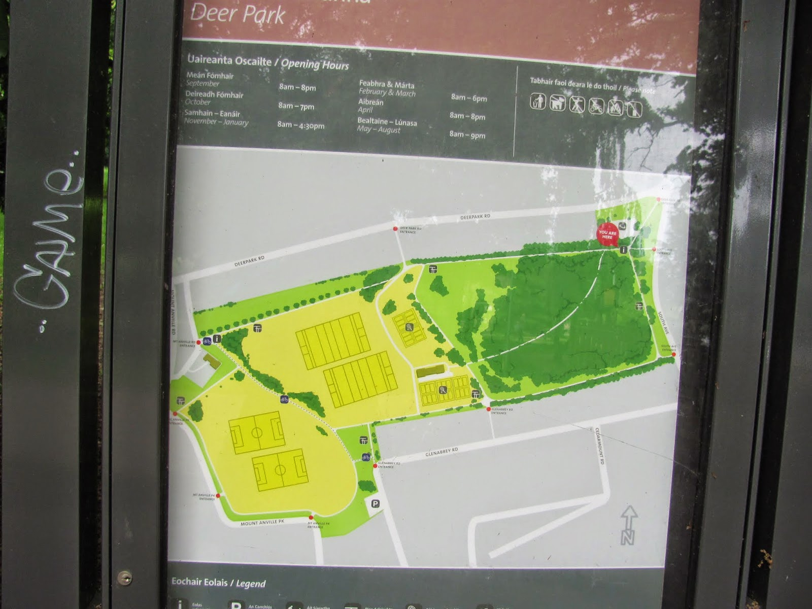 Park Map of Deer Park Dublin, Ireland