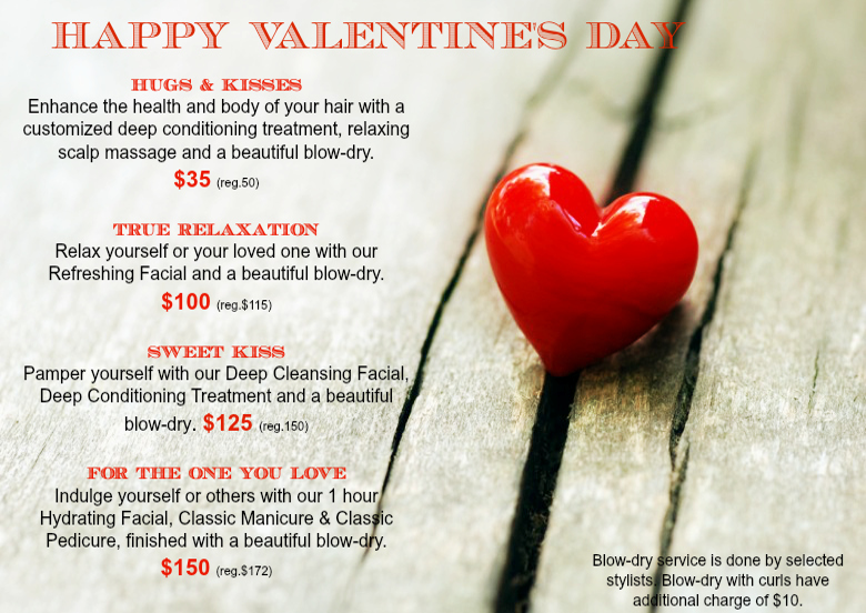 elite hair studio & spa: valentine's day packages, Ideas