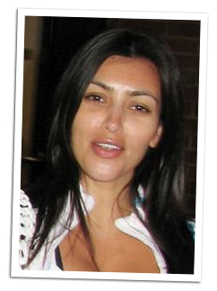 kim kardashian without makeup hollywood model