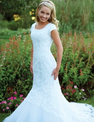Mormon wedding dresses fashion club for Mormon modest wedding dresses