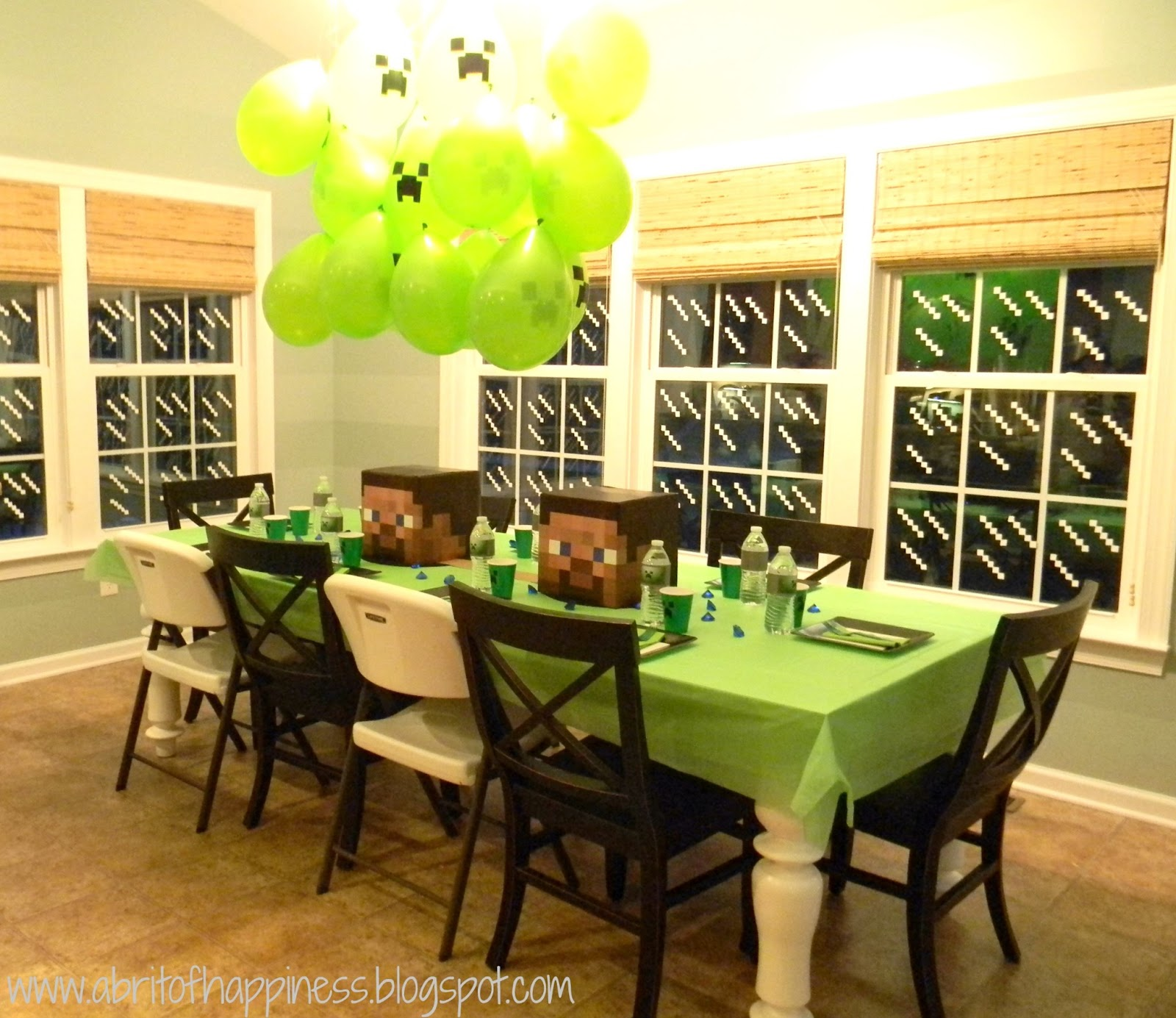 seaside interiors a fun minecraft party. Black Bedroom Furniture Sets. Home Design Ideas