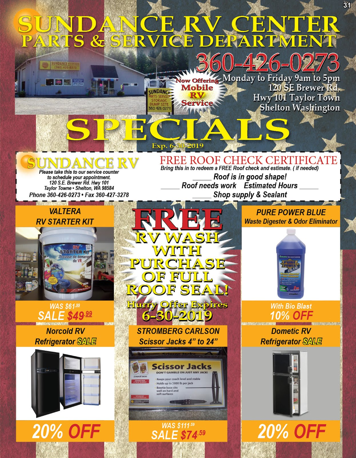 Sundance RV Center Sales Consignments, Mobile RV Service & Parts!