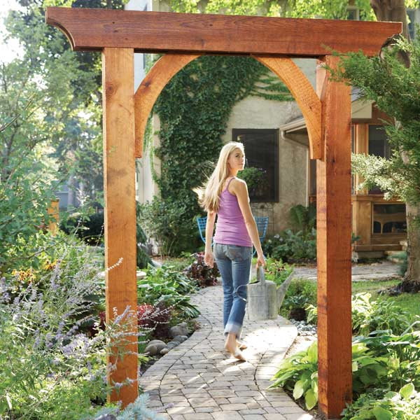 Diy back yard wedding ideas car interior design for Timber garden arch designs