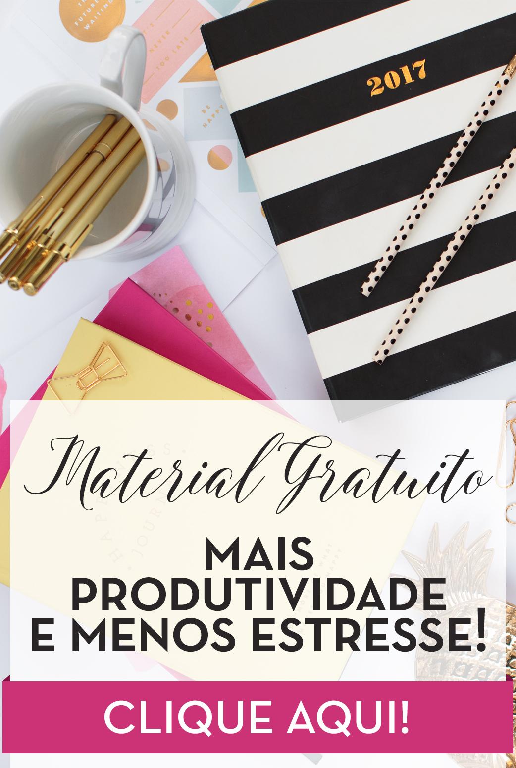 Seja mais produtiva! Planner de produtividade gratuito