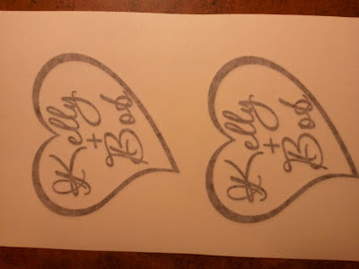 sparklingexpressions vinyl decal for a wedding