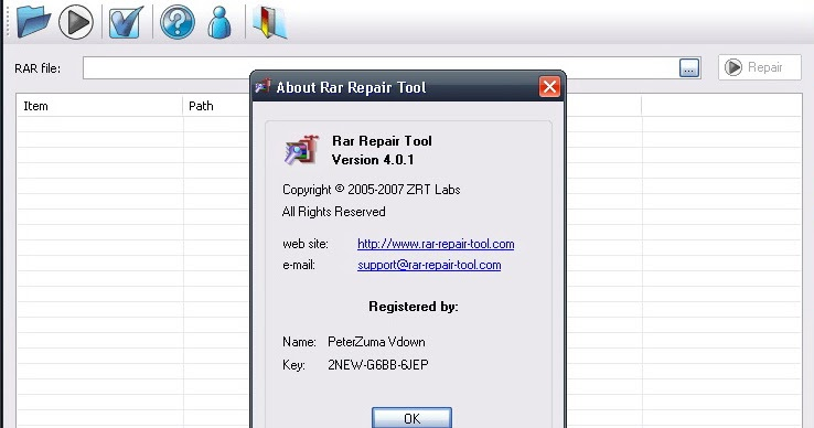 free rar repair tool full version