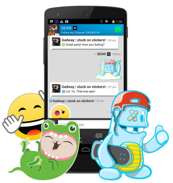 Update Aplikasi BBM Terbaru Akan diLengkapi Stiker
