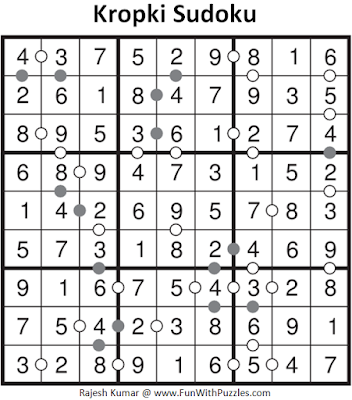 Kropki Sudoku (Fun With Sudoku #90) Solution