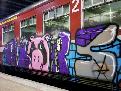 graffiti sad pig