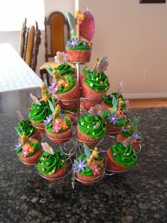 wonderful Tinkerbell Birthday Cupcakes