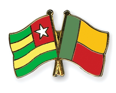 Benin and Togo flags
