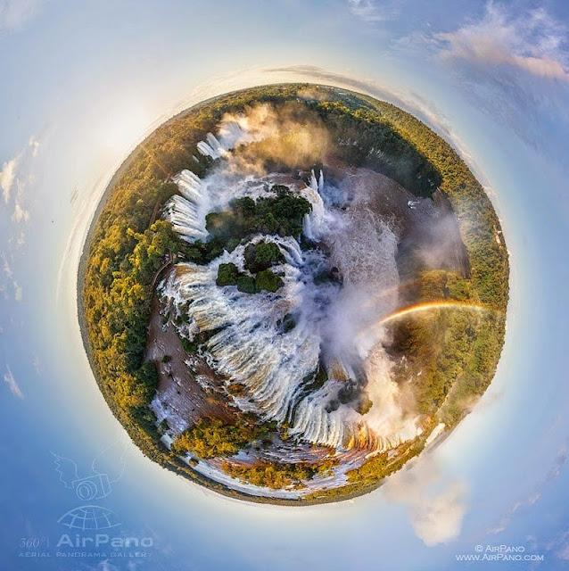 AirPano Planets, fotografías panorámicas 360º, Cataratas de Iguazú, Argentina, Brasil