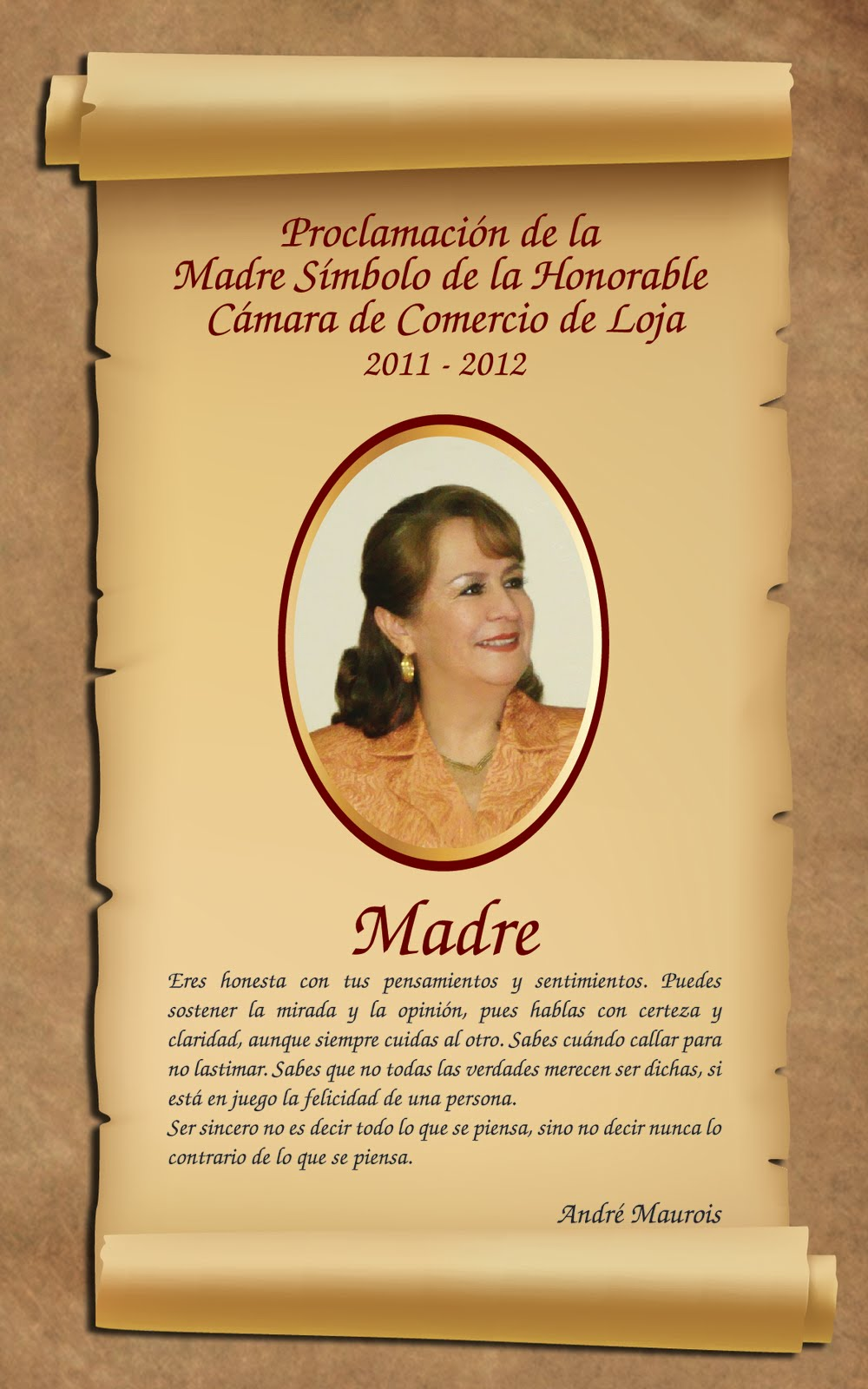 Madre Símbolo Honorable Cámara de Comercio de Loja