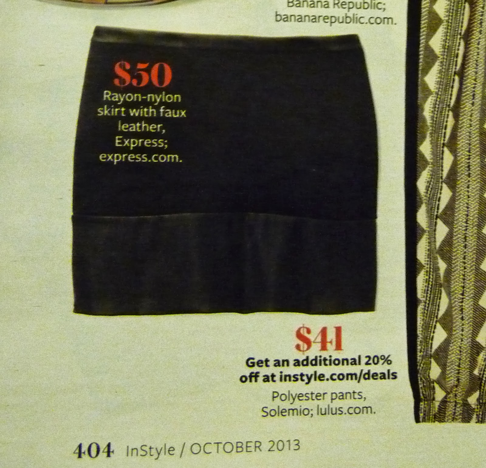 express mini skirt, In Style